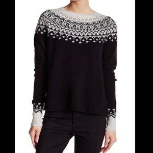 JOIE Deedra Fair Isle Wool Blend Sweater Sz Small